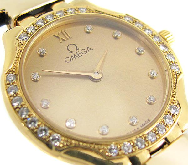 189e5cb0231c Золотые часы OMEGA De Ville с бриллиантами купить в интернет ...