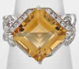 """Кольцо из коллекции """"Sunshine"""" с золотистым цитрином"""