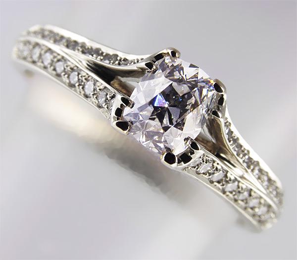 198e8d9909dc Кольцо с бриллиантами заказать в ювелирной мастерской Серебряные ...