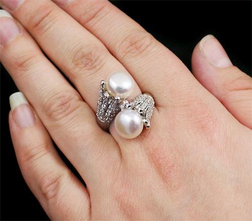 Кольцо с жемчужиной своими руками 32