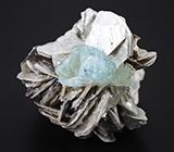 Кристалл аквамарина на мусковите 142 грамма