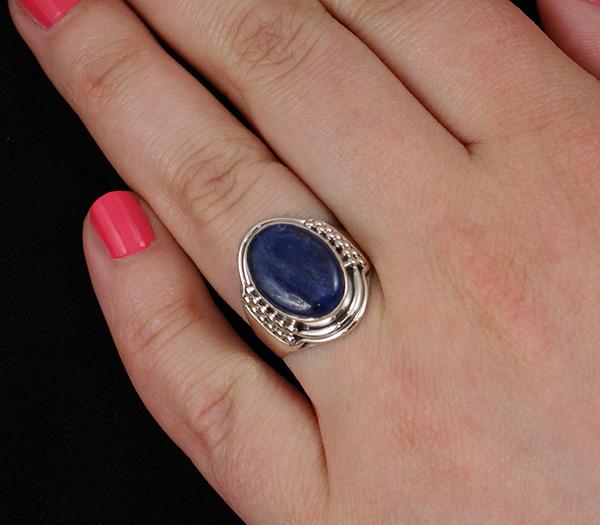 Кольцо с кианитом Серебро 925