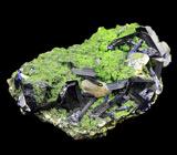 Кристаллы азурита и вульфенита на мотрамите 57 грамм! Очень редкий образец