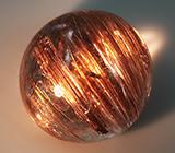 Крупный кварц с золотистым рутилом и эффектом кошачьего глаза 25,55 карат
