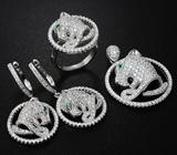 Замечательный серебряный комплект «Тигры»