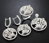 Впечатляющий серебряный комплект «Тигры»