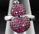 Серебряное кольцо с пурпурными сапфирами