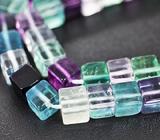 Разноцветные флюориты огранки «Cube» на нити