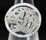 Оригинальное серебряное кольцо «Тигр»
