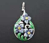 Чудесный серебряный кулон с цветной эмалью