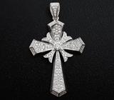 Оригинальный серебряный кулон-крест