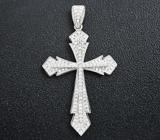 Замечательный серебряный кулон-крест