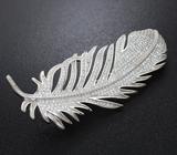Серебряная брошь/кулон «Перо»