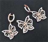 Великолепный серебряный комплект «Бабочки»