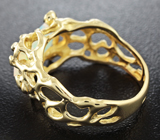 Золотое кольцо с ограненным эфиопским опалом массой 1,17 карат и бриллиантами Золото