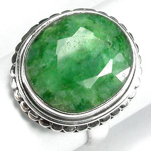 Серебро 925 Кольцо с изумрудом