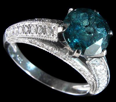 Кольцо с синим бриллиантом 1,3 карата купить в интернет магазине ... cf6b362aef8