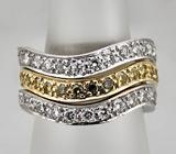 Три в одном! Стильное кольцо-сет с бриллиантами